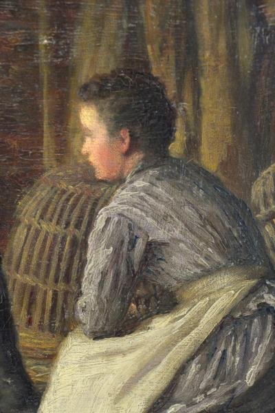 MCINTYRE, Joseph. Oil on Canvas. Basket Weaving on - 6