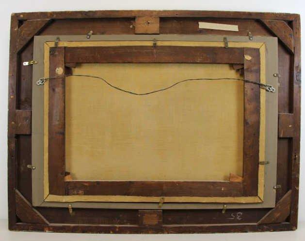 MCINTYRE, Joseph. Oil on Canvas. Basket Weaving on - 7