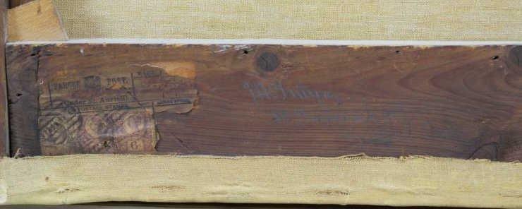 MCINTYRE, Joseph. Oil on Canvas. Basket Weaving on - 8