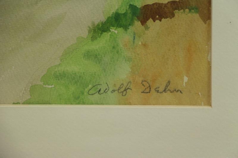 DEHN, Adolf. Watercolor Barn in Landscape. - 3