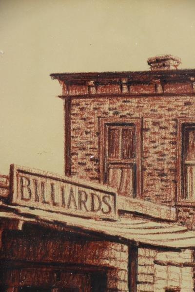 GOLLINGS, William. Chalk on Paper. Western Village - 3