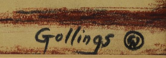 GOLLINGS, William. Chalk on Paper. Western Village - 4