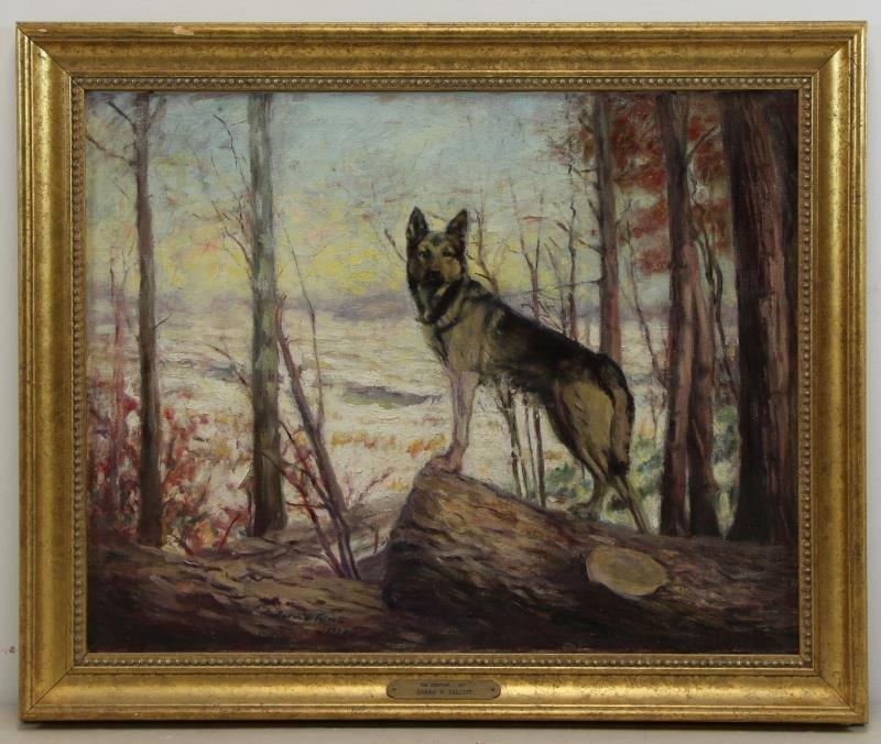 "TALCOTT, Sarah. Oil on Canvas. ""The Sentinal"". - 2"