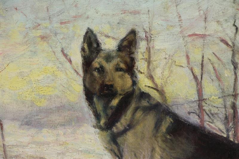 "TALCOTT, Sarah. Oil on Canvas. ""The Sentinal"". - 3"