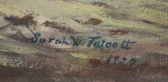 "TALCOTT, Sarah. Oil on Canvas. ""The Sentinal"". - 4"