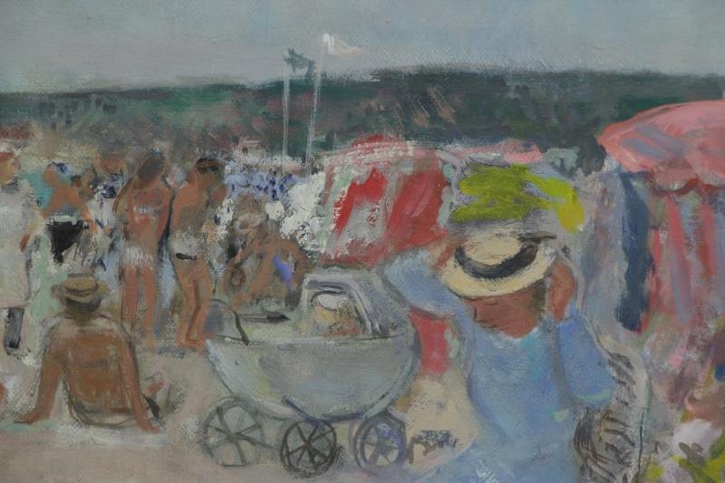 """GALL, Francois. Oil on Canvas """"Sur La Plage"""". - 3"""