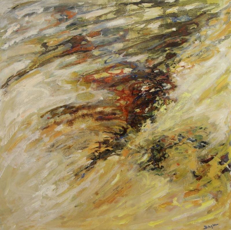 "DAGAN, Geula. Oil on Canvas. ""Limites de la Mer""."