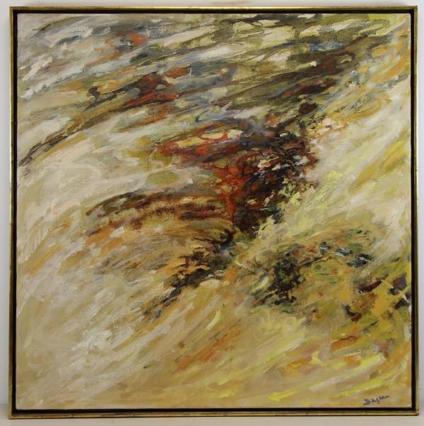 "DAGAN, Geula. Oil on Canvas. ""Limites de la Mer"". - 2"