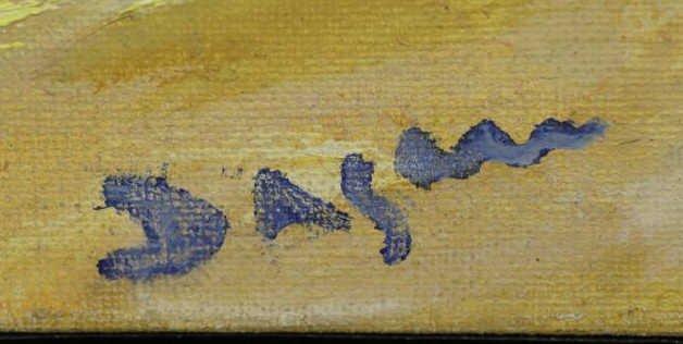 "DAGAN, Geula. Oil on Canvas. ""Limites de la Mer"". - 4"