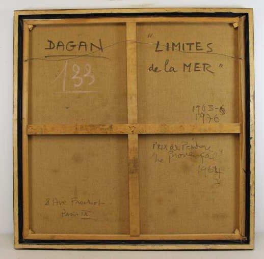 "DAGAN, Geula. Oil on Canvas. ""Limites de la Mer"". - 5"