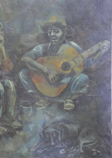 GAT, Moshe. Oil on Canvas. Mexico, 1960. - 3