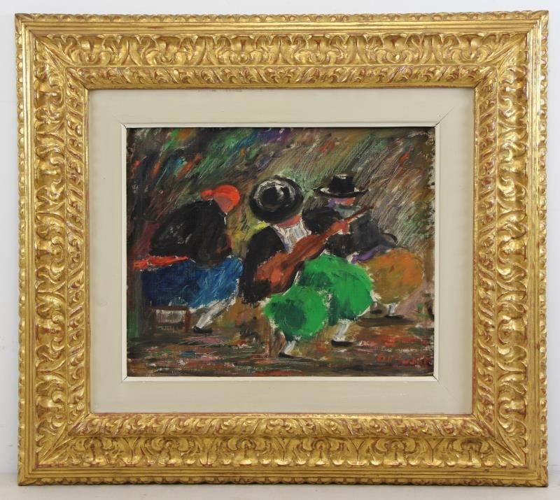 "BARDOLET, Coll Joseph. Oil on Canvas. ""Musicos"" - 2"