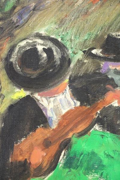 "BARDOLET, Coll Joseph. Oil on Canvas. ""Musicos"" - 3"