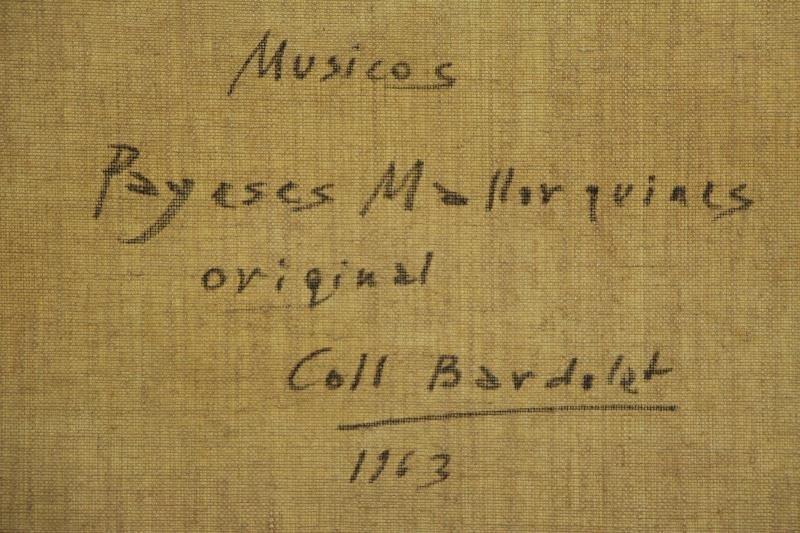 "BARDOLET, Coll Joseph. Oil on Canvas. ""Musicos"" - 6"