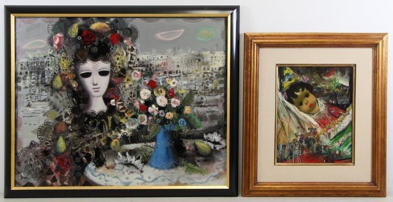 CALOGERO, Jean. Two Oils on Canvas.