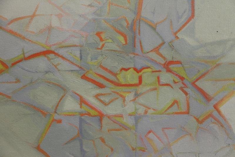 Signed Abstract Oil on Canvas. - 3