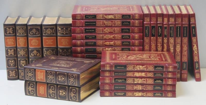 Shakespeare Leather Bound Book Lot.