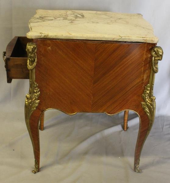 Pair of Louis XV Style Satine Marquetry and - 6