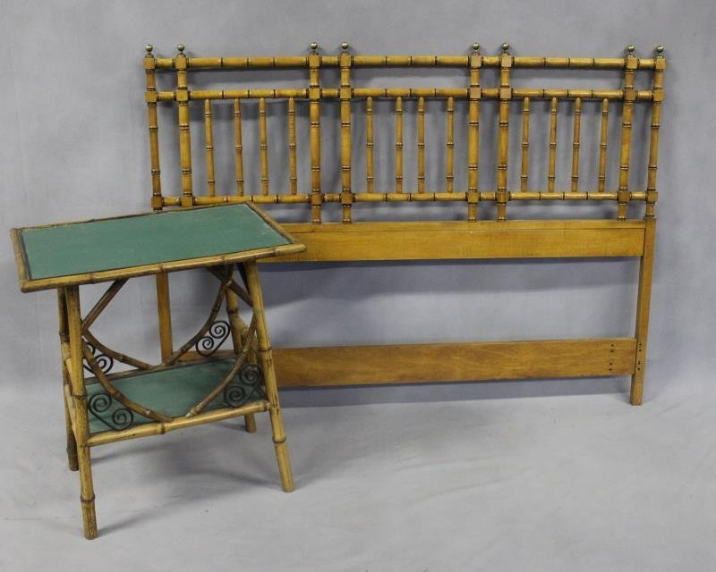 4 Piece Antique Bamboo Form Bedroom Set. - 2