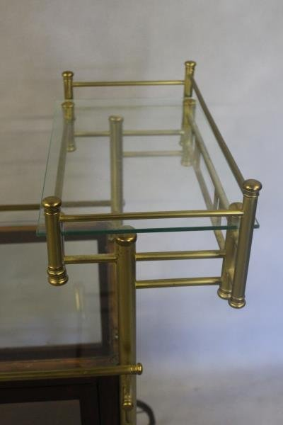 Vintage Bar Cart with Glass Panels and Lucite Bar. - 3
