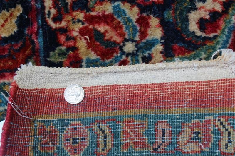 Finely Woven Antique Handmade Sarouk Carpet. - 5