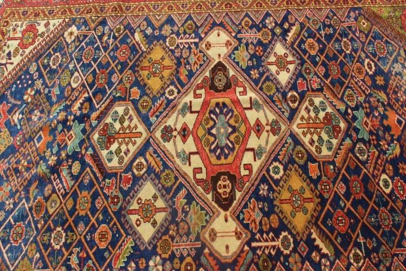 Finely Woven Antique Kazak Style Throw Rug. - 2