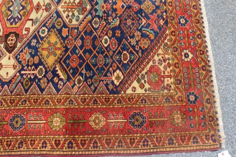 Finely Woven Antique Kazak Style Throw Rug. - 3