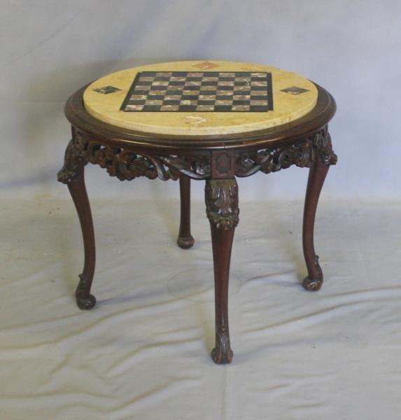 Specimen Stone Top Louis XV Style Game Table. - 2