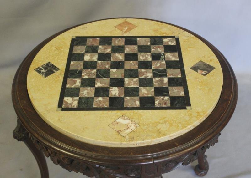 Specimen Stone Top Louis XV Style Game Table. - 3