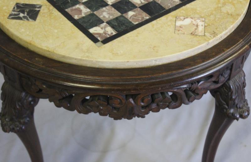 Specimen Stone Top Louis XV Style Game Table. - 4