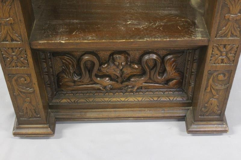 Antique Highly Carved Throne Chair. - 3