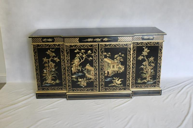 DREXEL. Signed Chinoiserie Decorated Server. - 2