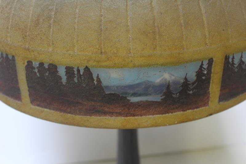 Handel Signed and Reversed Painted Table Lamp. - 5