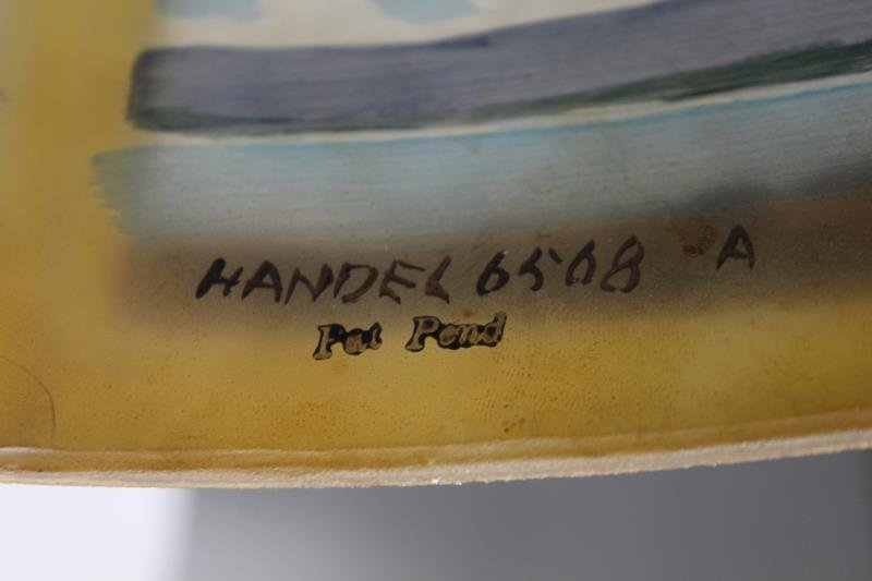Handel Signed and Reversed Painted Table Lamp. - 7