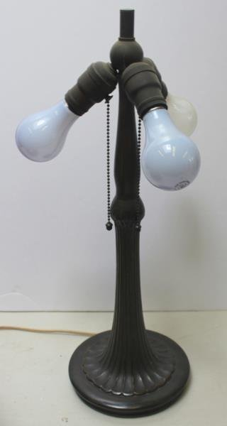 Handel Signed and Reversed Painted Table Lamp. - 9