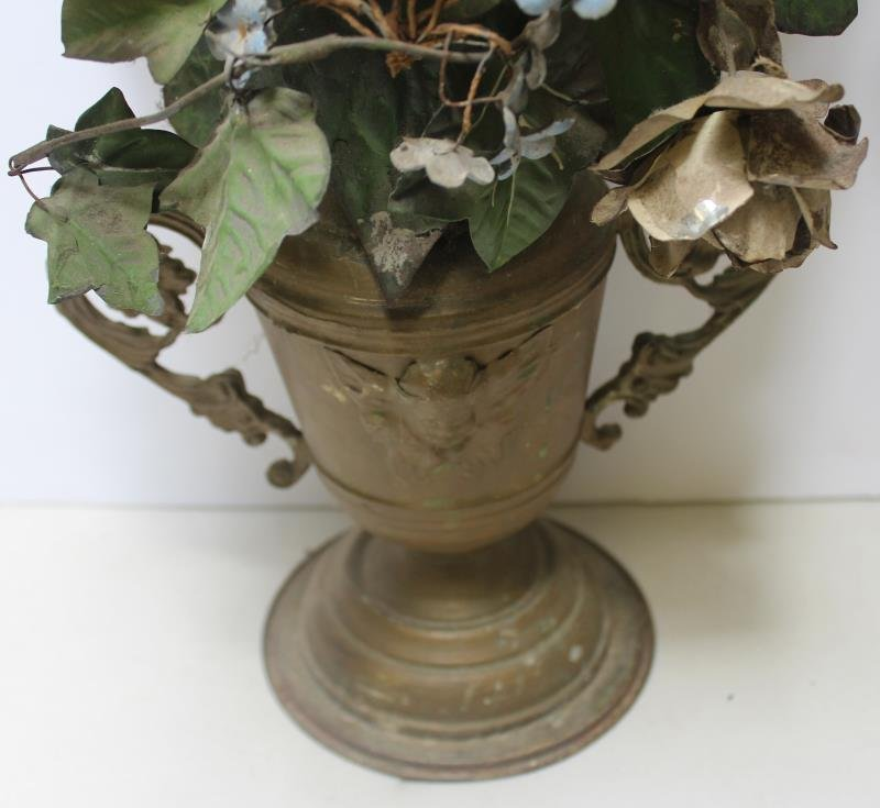 Pair of Tole Painted Flowering Trees in Urn From - 4