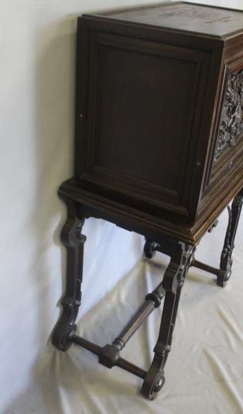 Antique Vergueno Style Highly Carved Desk On Stand - 6