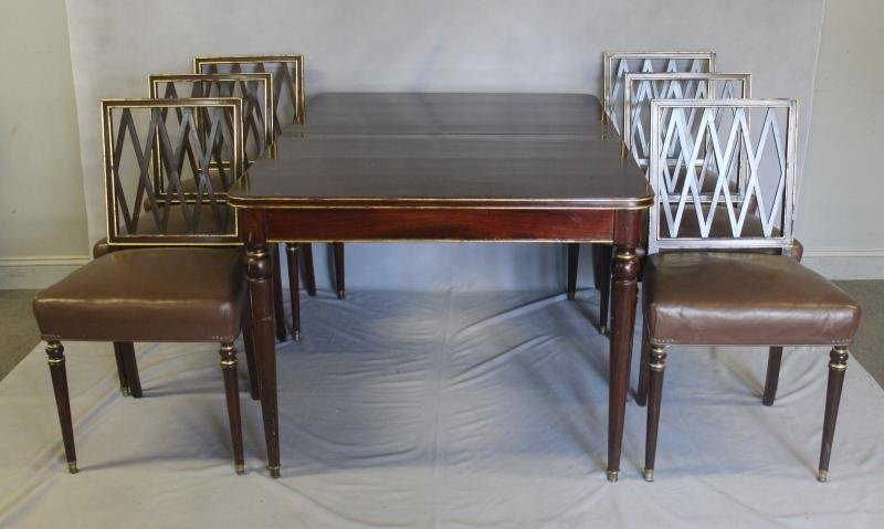 JANSEN, Signed Dining Table and 6 Chairs.
