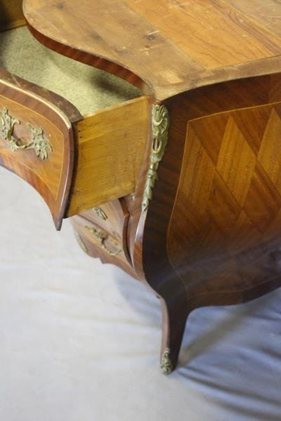 Pair of Swedish Marble Top Bombe Parquetry - 5
