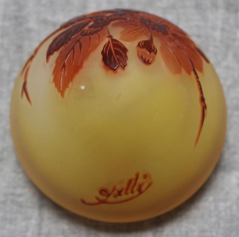 Unusual Galle Egg Shaped Art Glass Vase. - 3