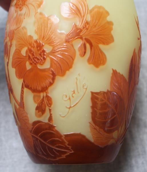 Unusual Galle Egg Shaped Art Glass Vase. - 4