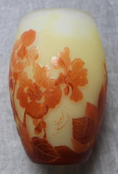 Unusual Galle Egg Shaped Art Glass Vase. - 5