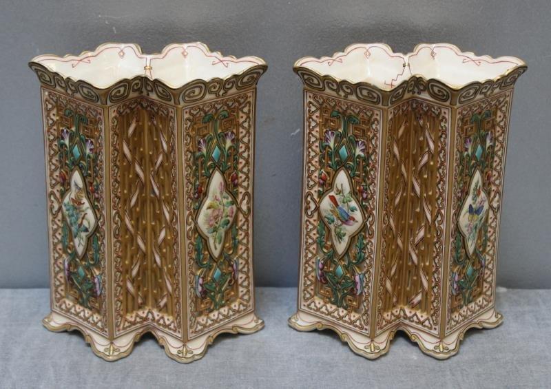 Wonderful Pair of Copeland Porcelain Vases.