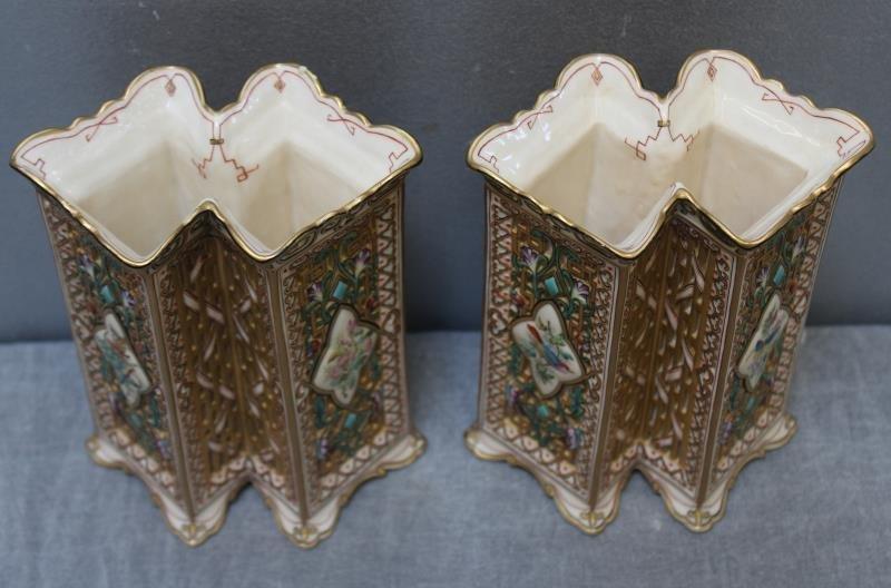 Wonderful Pair of Copeland Porcelain Vases. - 2