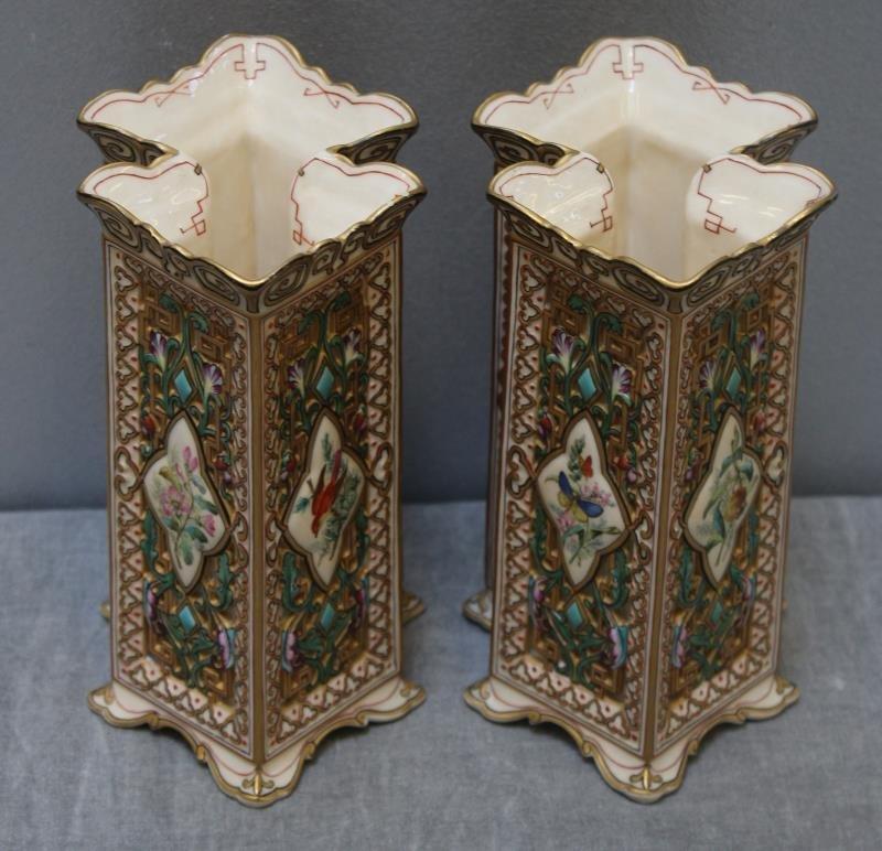 Wonderful Pair of Copeland Porcelain Vases. - 3
