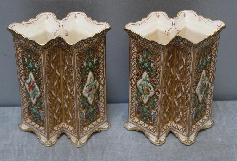 Wonderful Pair of Copeland Porcelain Vases. - 4