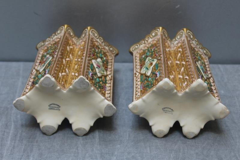 Wonderful Pair of Copeland Porcelain Vases. - 5