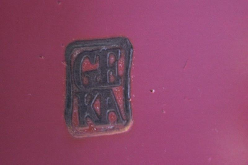 Antique French Framboise Painted Bureau Plat. - 3