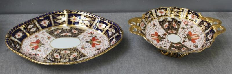 """Large Grouping of Crown Derby """"Imari """" Porcelain. - 4"""