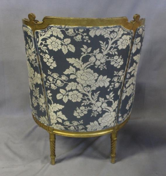 Finely Carved Louis XV1 Bergere & A Paint - 3